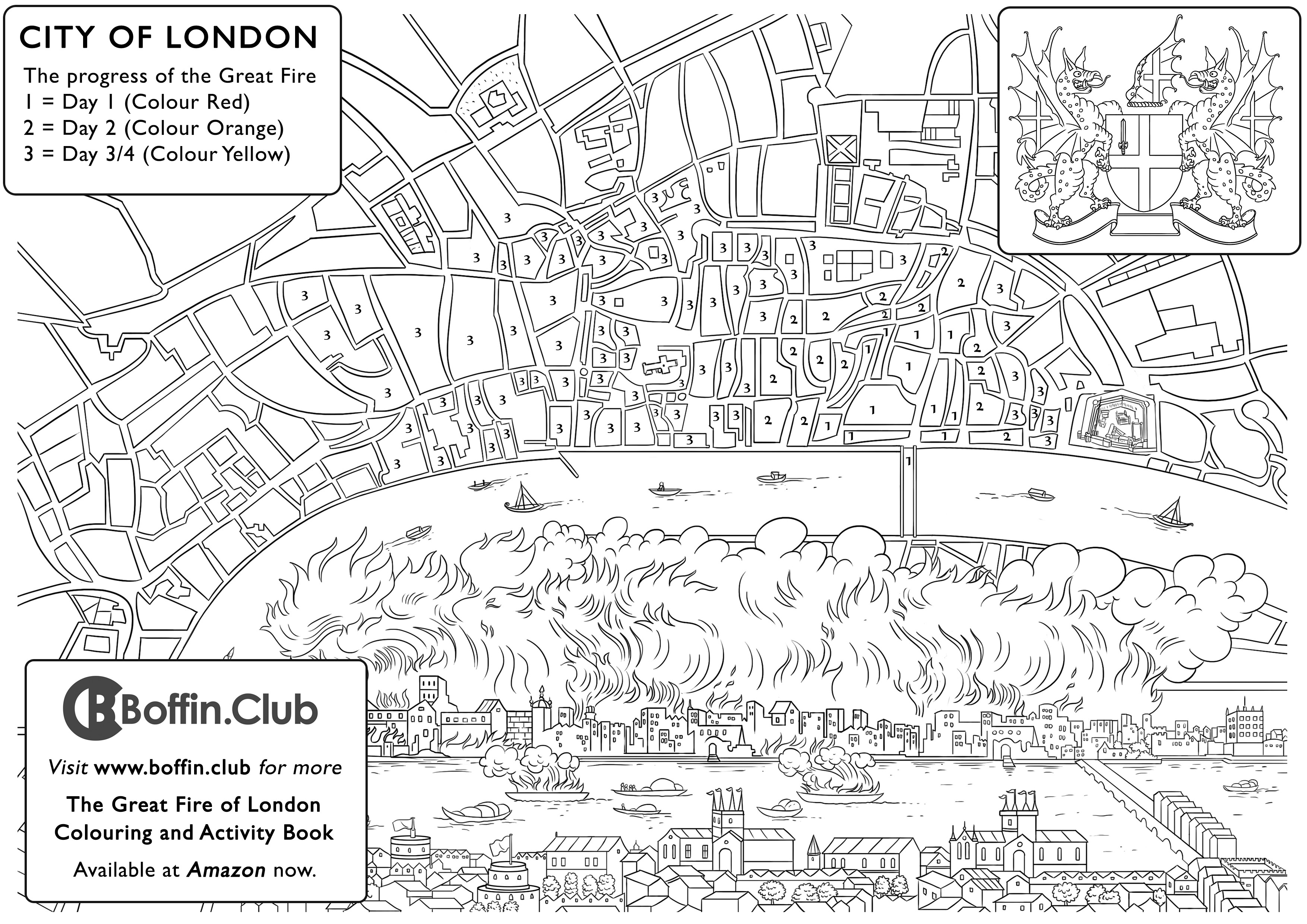 There Are Many Activities To Do In The Great Fire Of London Colouring And Activity Book Youll Find Them Contained Within Key Facts Cover Pages