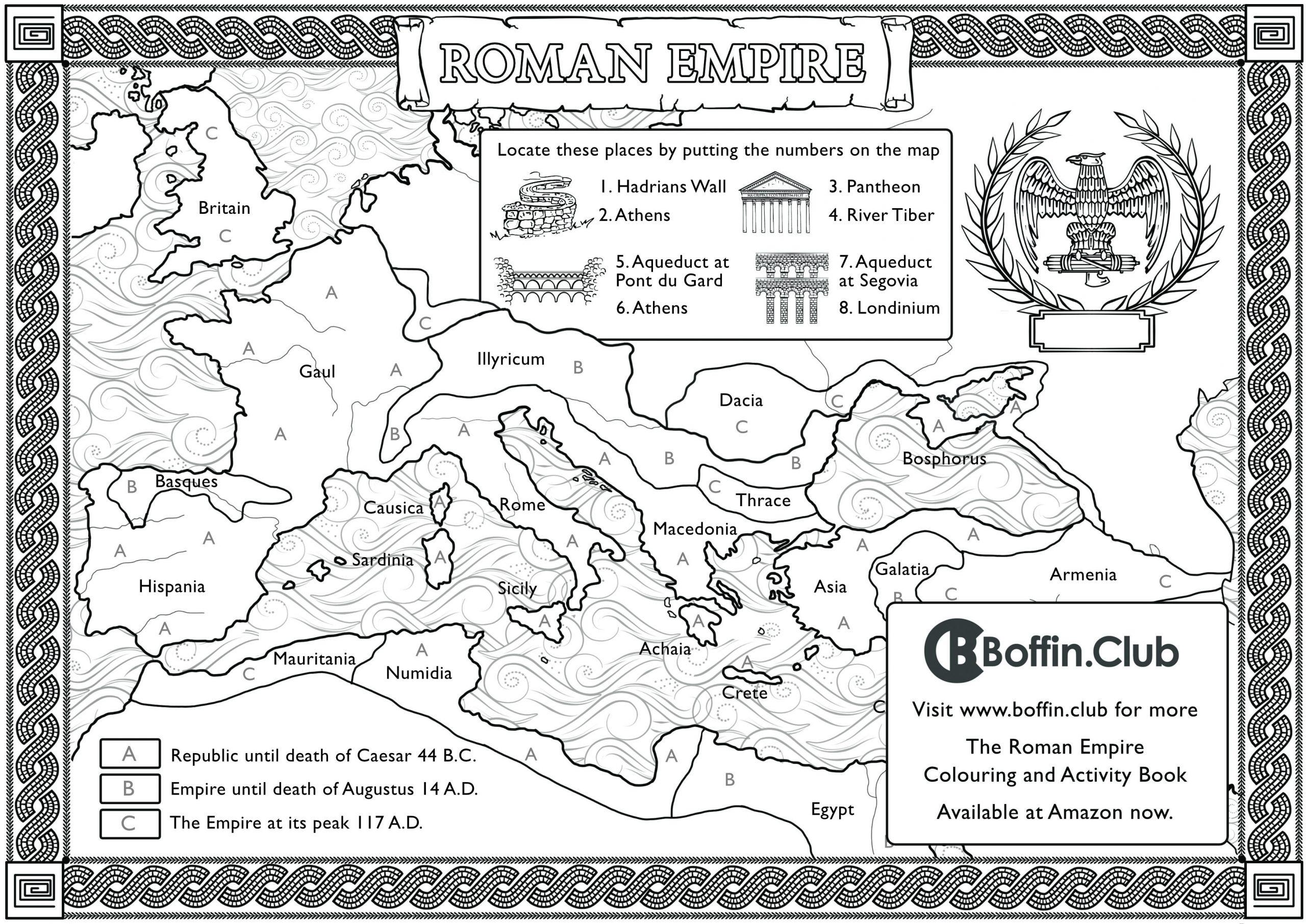 Ancient Rome Colouring Sheet