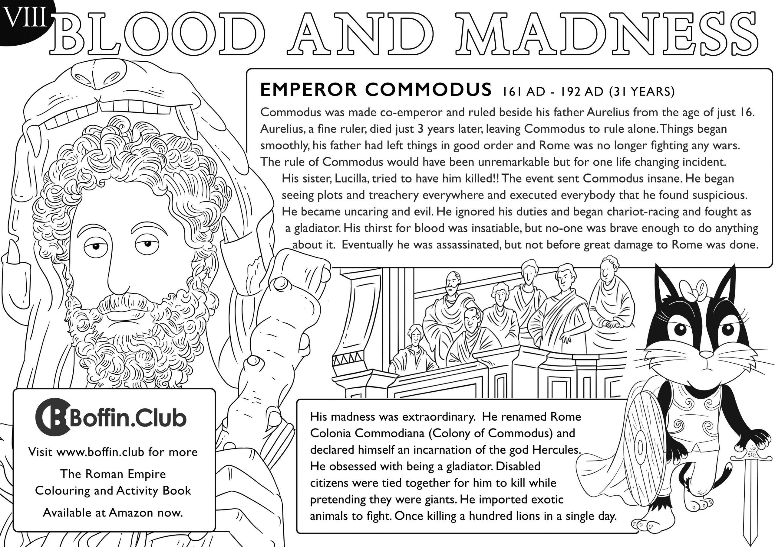 Roman Empire Colouring Sheet
